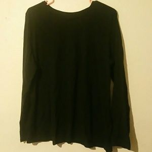 Women black long shirt